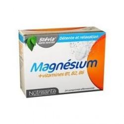Nutrisanté Magnesium + Vitamines 24 Comprimés Effervescents
