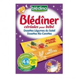 Blédina Blédiner Riz/Carottes Dosettes 144g