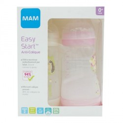 Biberon Mam anti colique easy start débit 2 2x260ml