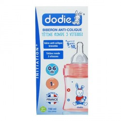Dodie biberon initiation 150 ml débit 1