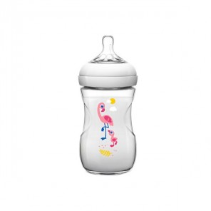 AVENT BIB NATURAL FLAMANT 260ML