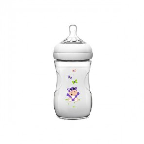 AVENT BIB NATURAL HIPPO 260ML