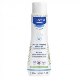 Mustela lait de toilette sans rinçage à l'avocat bio 200ml