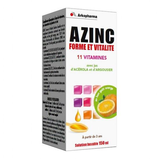 Azinc Sirop forme et vitalité 150ml