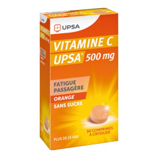 Upsa vitamine c 500mg 30 comprimés à croquer goût orange
